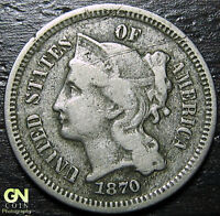 1870 3 CENT NICKEL PIECE  --  MAKE US AN OFFER  Y9042