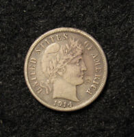 1914-S BARBER DIME LIGHT SCRATCH