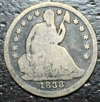 1838 P SEATED HALF DIME  --  MAKE US AN OFFER  Y8559