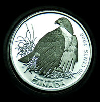 CANADA 50 2000 SILVER PROOF RED-TAILED HAWK:  CANADA'S BIRDS OF PREY