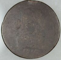 1797 LARGE CENT POOR MANS DRAPED BUST, POOR CONDITION READABLE DATE