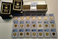 2007-S PROOF PRESIDENTIAL DOLLAR 22-COIN SET $1 ICG PR70, MINT STATE 67 1ST DAY STRIKE