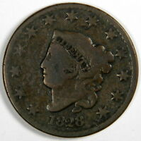 1828 LARGE CENT  LARGE DATE VG  PRICED RIGHT