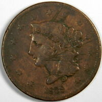 1839 LARGE CENT  BOOBY HEAD  SCRATCHES  GOOD/VG   PRICED RIGHT