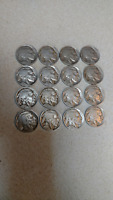 SET OF 16 DIFFERENT BUFFALO NICKELS 1913-1938, GOOD TO FINE CONDITION