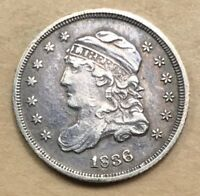 1836 CAPPED BUST HALF DIME  EXTRA FINE /AU