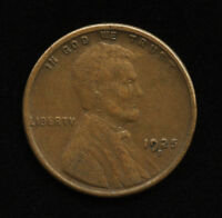 1925-S 1C US LINCOLN ONE CENT PENNY SF COIN CH VF CHOICE  FINE SHIPS FREE