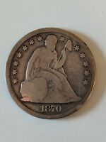 1870 CC SEATED DOLLAR STRONG VG