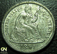 1891 P SEATED DIME  --  MAKE US AN OFFER  W3561 ZXCV