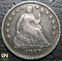 1857 P SEATED HALF DIME  --  MAKE US AN OFFER  R2699