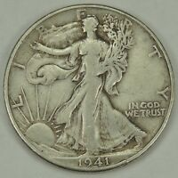 1941-D 50C WALKING LIBERTY SILVER HALF DOLLAR VF/EXTRA FINE   052218