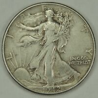 1942-P 50C WALKING LIBERTY SILVER HALF DOLLAR EXTRA FINE   052218