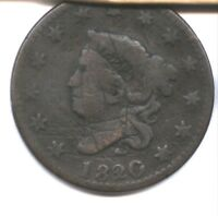 1820/19 US LARGE CENT  OVERDATE  VG DETAIL  OLD SCRATCHES  PRICED TO SELL