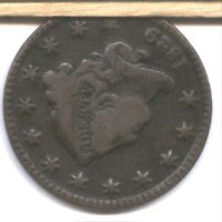 1829 US LARGE CENT  N1  DIE ROTATED 100 DEGREES CCW  CHOCOLATE BEAUTY  ERROR