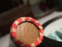 1 ROLL OF WHEAT PENNIES. 1940-1958 P AND D. SHIPS FREE STOCK PHOTO. LOT  76