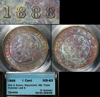 Click now to see the BUY IT NOW Price! ELITE COINS   LARGE CENT VARIETY   1888 REPUNCHED LAST 8   MS63  A051
