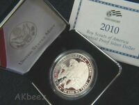 2010 P BOY SCOUTS SILVER PROOF DOLLAR BY1