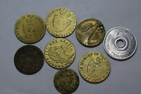 WORLD OLD COINS TOKENS MEDALS LOT A81 U13