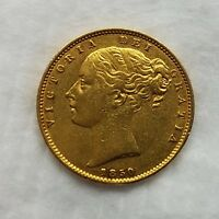 FULL SOVEREIGN 1850 SHIELD  XF CONDITION RARE IN MARSH