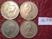 4 LARGE FORMAT 5 PENCE COINS 1971 1977 1980 1988   JOB LOT 1622