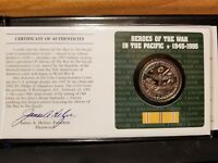 1945 1995 HEROES OF THE WAR IN THE PACIFIC COIN COMMEMORATIVE COVER