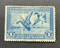 WTDSTAMPS   RW1 1934   US FEDERAL DUCK STAMP   NG