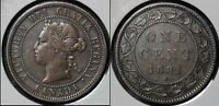 SUMMER SALE   CANADA LARGE CENT   1881H ROUND THE CLOCK DOUBLING   F   R037