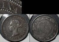 SUMMER SALE   CANADA LARGE CENT   1881H TRIPLE PUNCHED N   VF   R042