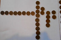 LOT OF 65 CANADIAN 1 CENT COIN COLLECTION 1920 1960