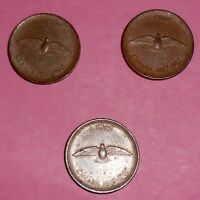 CANADIAN LOT OF 3 BICENTENNIAL 1867 1967 1 CENT COINS & 1918 LARGE 1 CENT COIN
