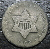 1852 3 CENT SILVER PIECE  --  MAKE US AN OFFER  R5261