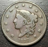 1837 CORONET HEAD LARGE CENT   --  MAKE US AN OFFER  R5692