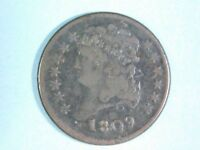 1809- CLASSIC HEAD - HALF CENT 1/2 C WITH ROTATED REVERSE