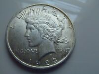 1923 PEACE DOLLAR - BRILLIANT UNCIRCULATED - FROSTY - LUSTER