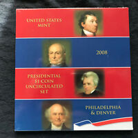2008 PRESIDENTIAL DOLLAR COIN UNCIRCULATED SET SEALED XE2  SHIPS FREE