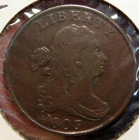 1803 DRAPED BUST HALF CENT, VF, A  ORIGINAL COIN FOR TYPE  1208-01