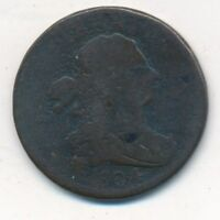1804 DRAPED BUST HALF CENT- CIRCULATED EARLY TYPE COIN-SHIPS FREE INV:3