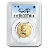 2013-P A POSITION WILLIAM MCKINLEY PRESIDENTIAL DOLLAR MINT STATE 68 PCGS