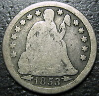 1853 P SEATED DIME  --  MAKE US AN OFFER  R5248