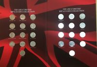 THE GREAT BRITISH 10P A Z COIN COLLECTION . COMPLETE SET .