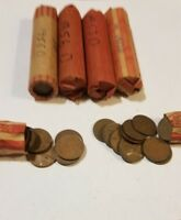 WHEAT PENNIES TWO ROLLS 1953 D. AND 1956 D.