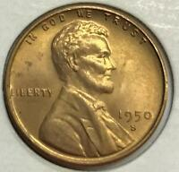 1950-S  GEM BU  LINCOLN CENT   HIGH GRADE COIN  412