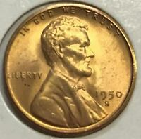 1950-S  GEM BU  LINCOLN CENT   HIGH GRADE COIN  410