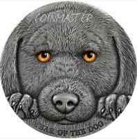 2018 3 OZ SILVER 3000 FRANCS CHINESE LUNAR YEAR OF THE DOG C