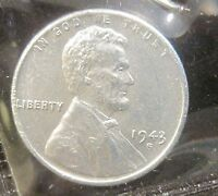 1943-S LINCOLN STEEL WHEAT CENT - GEM - P207-3
