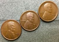 1916P 1916D 1916S  FINE LINCOLN WHEAT CENTS PENNIES M433 FREE SHIP