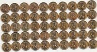 1955-S LINCOLN WHEAT CENT RED UNCIRCULATED ROLL 50 RED UNC CENTS SHIPS FREE