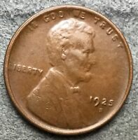 1925 S EXTRA FINE  EF EXTRA FINE BN LINCOLN WHEAT CENT PENNY. L855  FREE SHIP