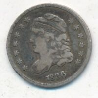 1836 CAPPED BUST SILVER HALF DIME-  CIRCULATED TYPE COIN-SHIPS FREE