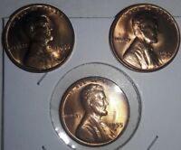 1955 S WHEAT CENT UNCIRCULATED SPIKED 5 SET OF THREE